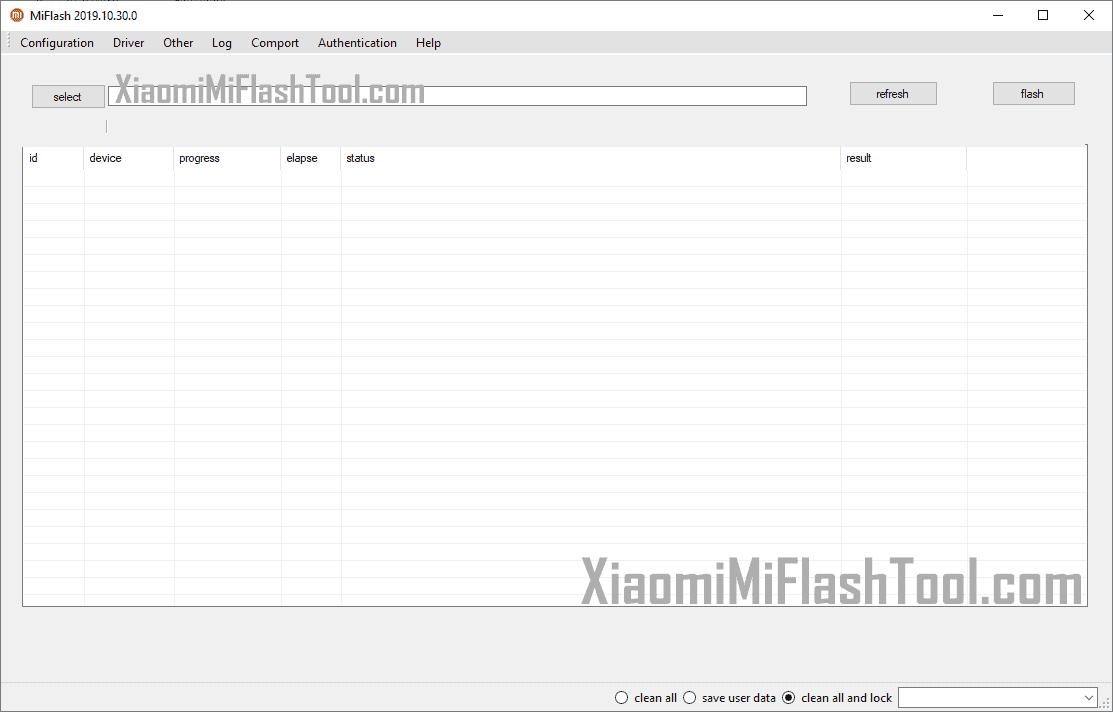Xiaomi Mi Flash Tool 20191030 - Xiaomi Mi Flash Tool 20191030
